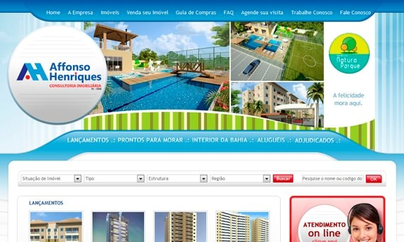 Affonso Henriques com novo site