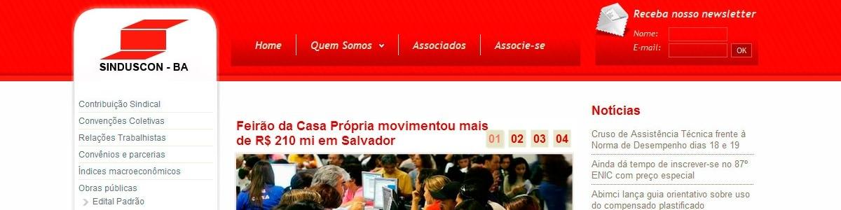 Novo site do Sinduscon – BA