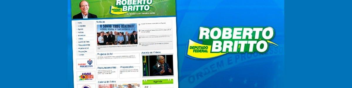 Novo site do Deputado Roberto Brito