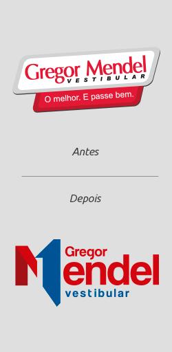 Antes e Depois Logo Gregor Mendel Pré-vestibular 2016 - Click Interativo