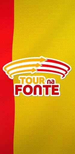 Peça gráfica com a Logo Tour na Fonte - Click Interativo