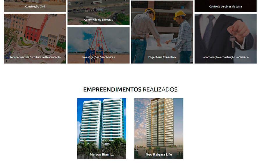 Site Concreta Engenharia 2016 - Click Interativo