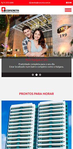 Site Concreta Incorporação 2016 - Click Interativo