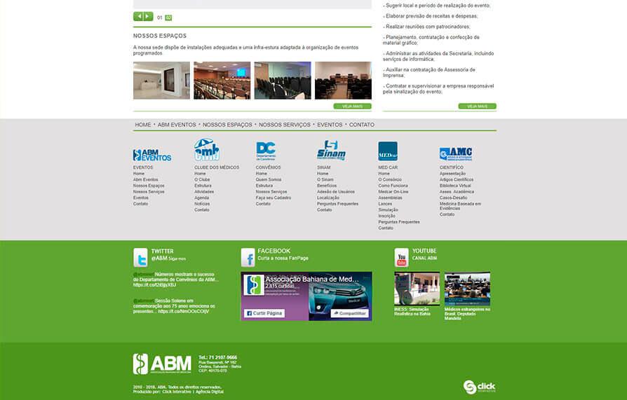 Site da ABM Eventos 2010 - Click Interativo