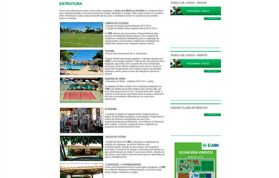 Site do Clube dos Médicos 2010 - Click Interativo