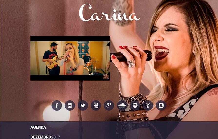 Site Carina Mennitto 2012 - Click Interativo