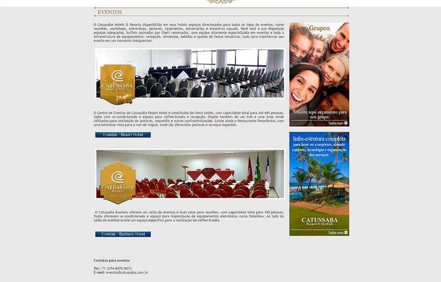 Site Hotel Catussaba 2012 - Click Interativo