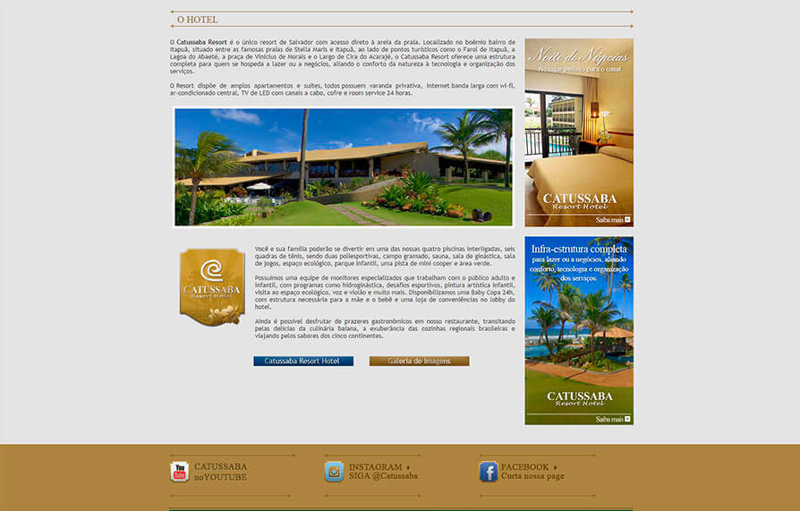 Site Hotel Catussaba Resort 2012 - Click Interativo