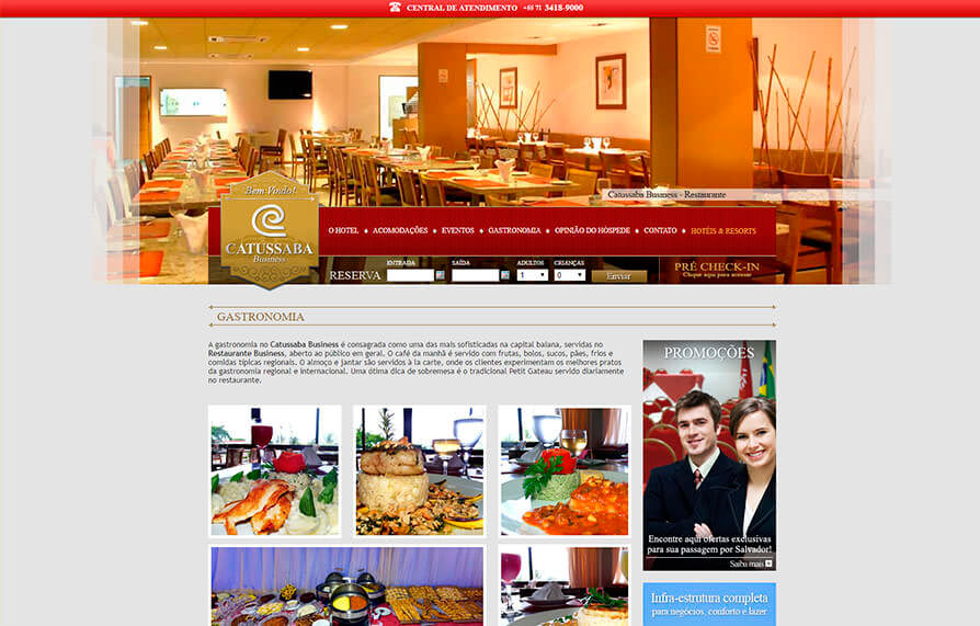 Site Hotel Catussaba Business 2012 - Click Interativo