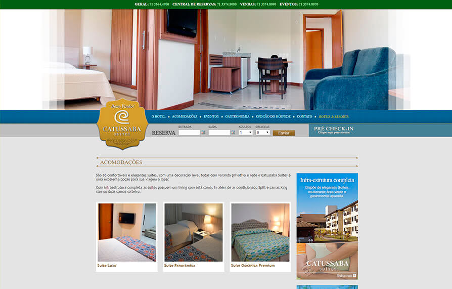 Site Hotel Catussaba Suites 2012 - Click Interativo