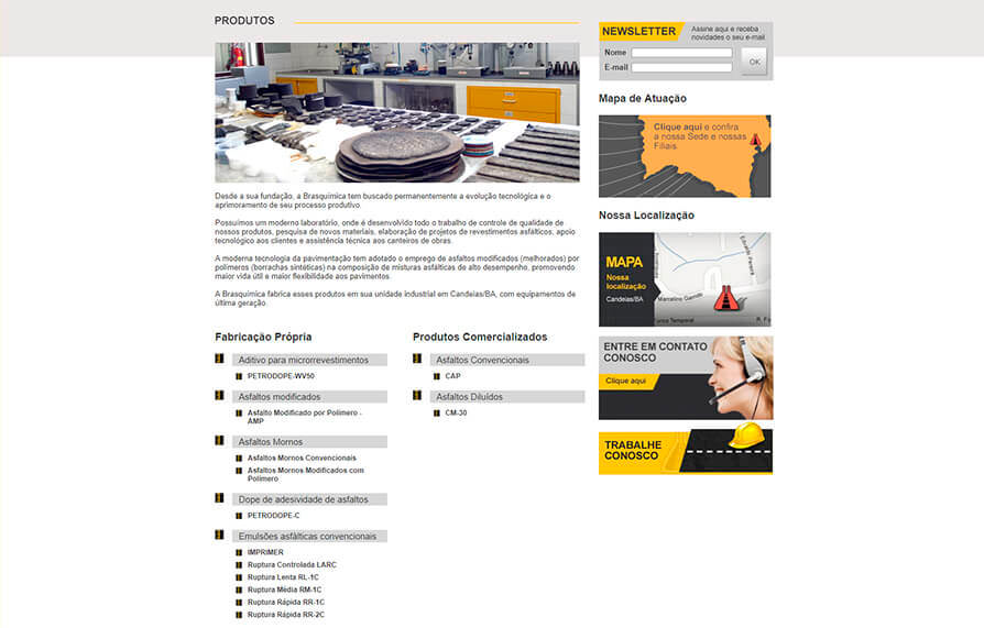 Site Brasquímica 2012 - Click Interativo