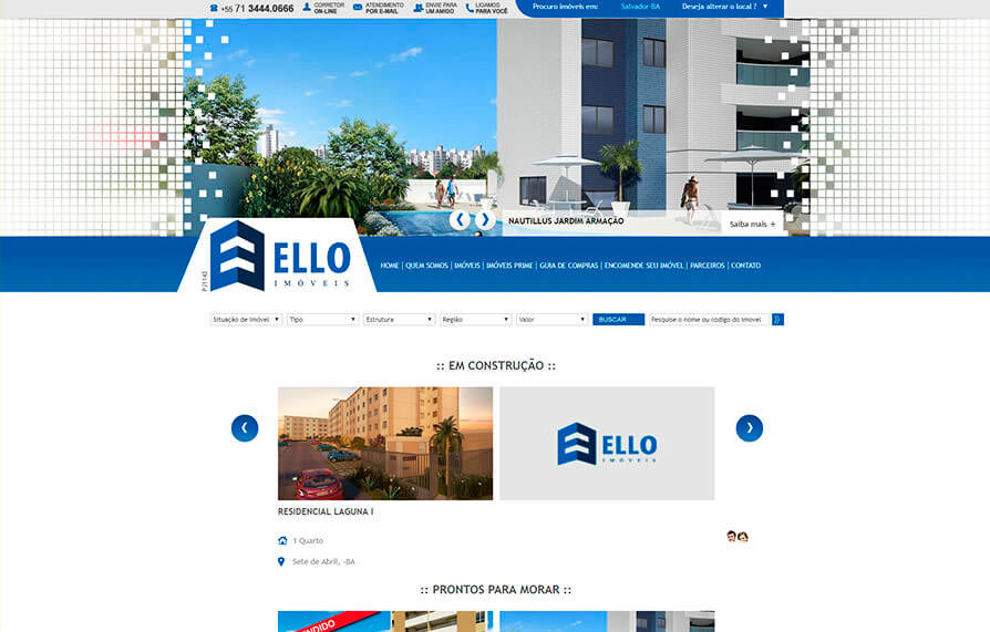 Site Ello Imóveis 2011 - Click Interativo