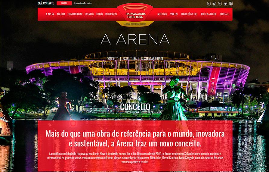 Site Arena Fonte Nova 2015 - Click Interativo