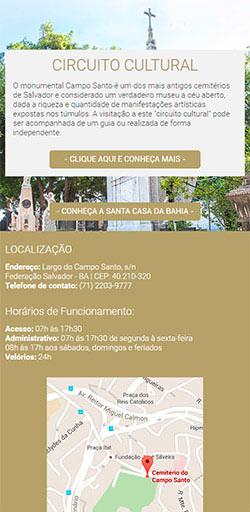 Site Cemitério Campo Santo 2016 - Click Interativo
