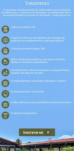 Home do site da Clinica da Obesidade - Acessado via Celular