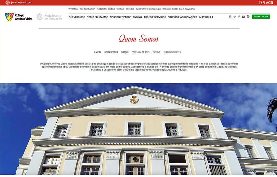 Site Colégio Antônio Vieira 2016 - Click Interativo