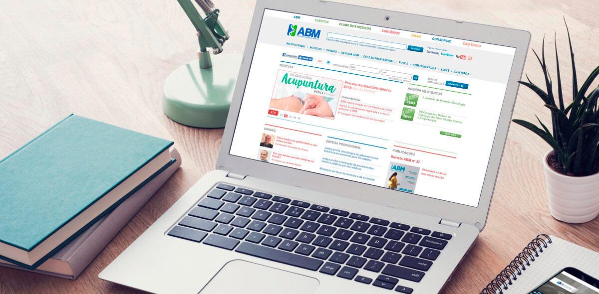 Site ABM 2010 - Associação Bahiana de Medicina - Click Interativo