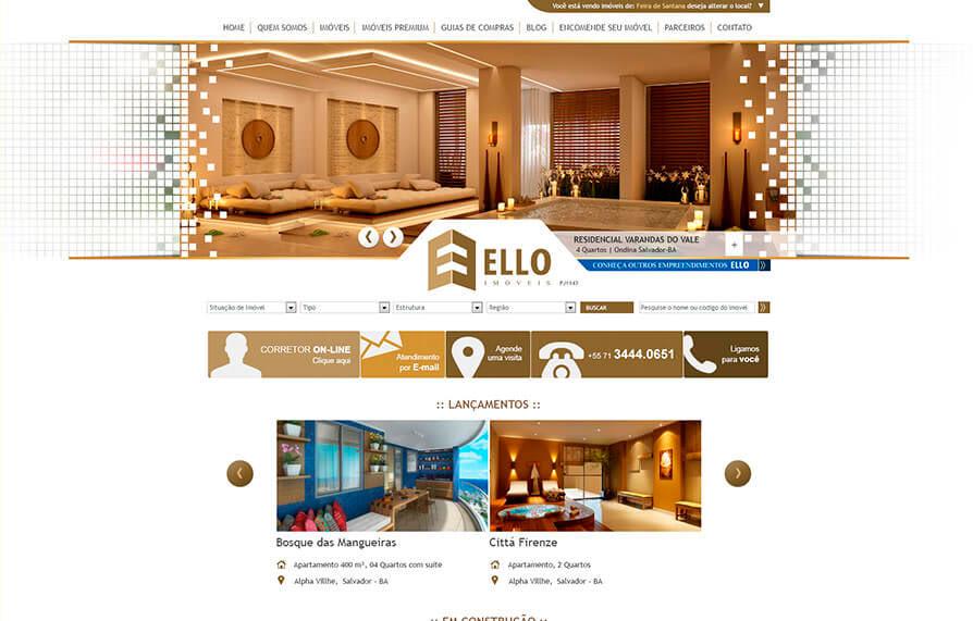 Site Ello Imóveis 2013 - Click Interativo