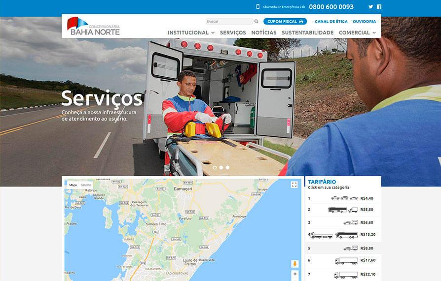Site Concessionária Bahia Norte 2017 - Click Interativo