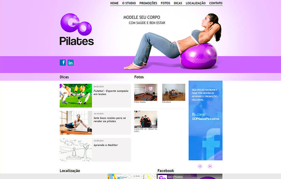 Site Go Pilates 2013 - Click Interativo