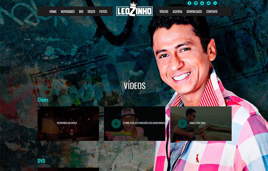 Site MC Leozinho 2015 - Click Interativo