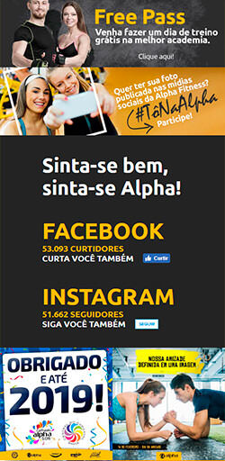 Home do site Alpha Fitness - Versão celular
