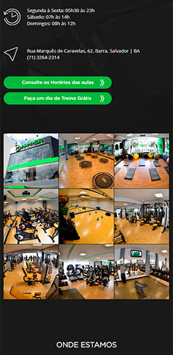 Site Hammer Fitness Club 2017 - Click Interativo