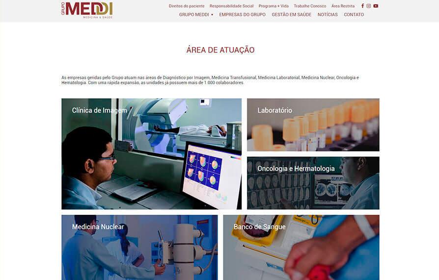 Site Grupo Meddi 2016 - Click Interativo