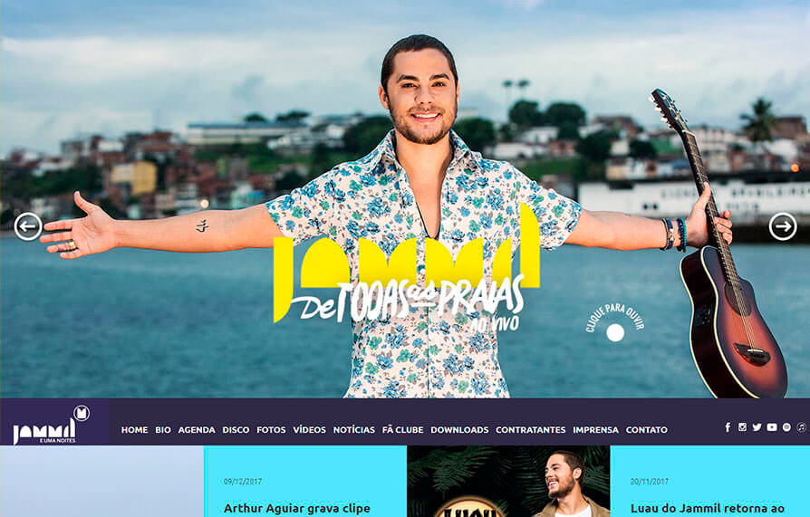 Site Banda Jammil 2016 - Click Interativo