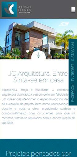 Site JC Arquitetura 2016 - Click Interativo