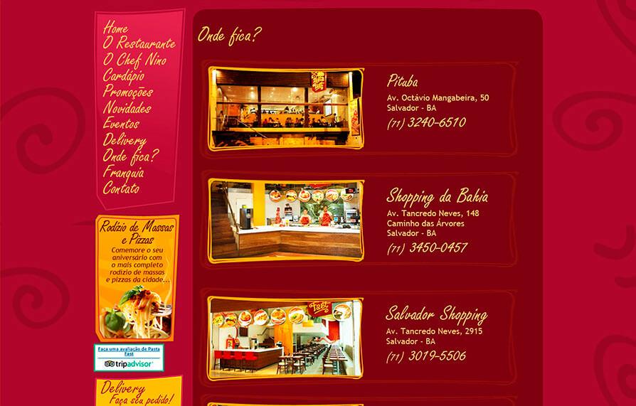 Site Pasta Fast 2012 - Click Interativo