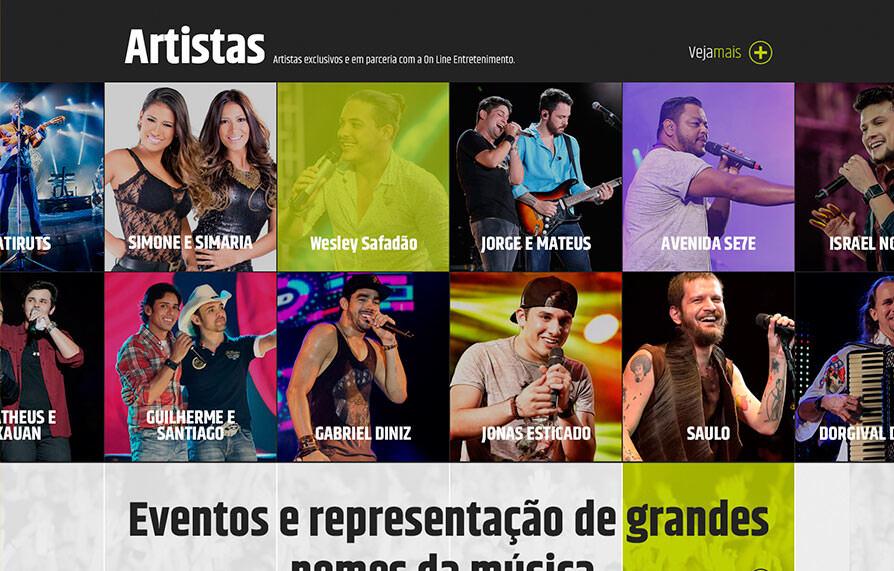 Site Online Entretenimento 2016 - Click Interativo
