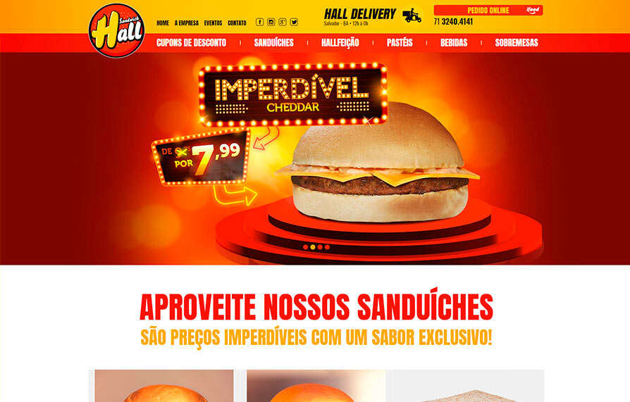 Site Sandwich Hall 2015 - Click Interativo