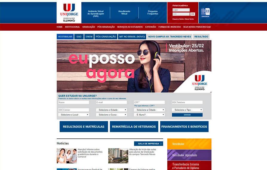 Site Unijorge 2007 - Click Interativo
