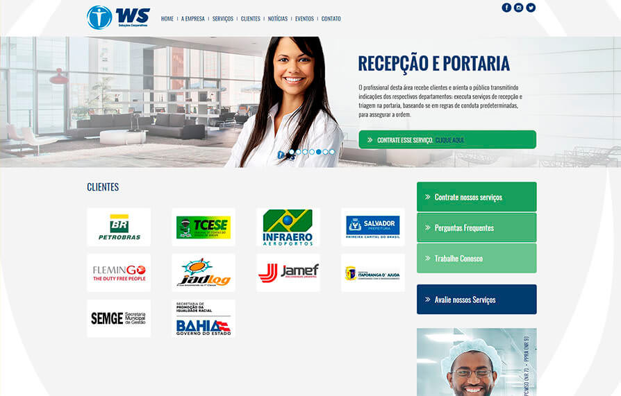 Site WS Service - Click Interativo