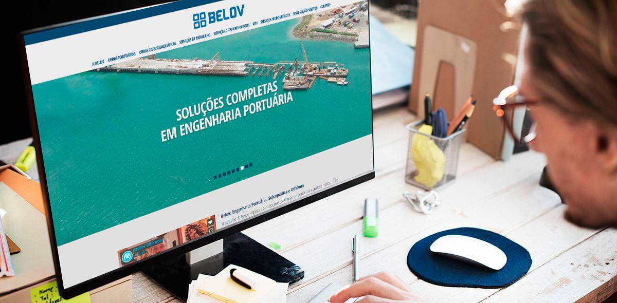 Site da Belov Engenharia 2016 - Click Interativo