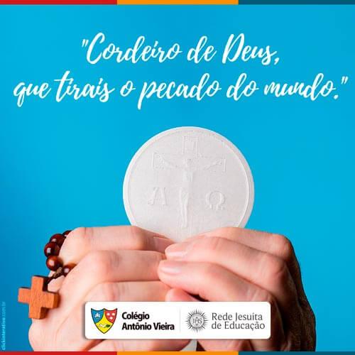 Vamos vivenciar um domingo de muita paz, fé e louvor.   #CordeiroDeDeus #ColégioAntônioVieira #Vieira2017 #JesuitasBrasil #RedeJesuitaDeEducação #RJE   www.colegioantoniovieira.com.br