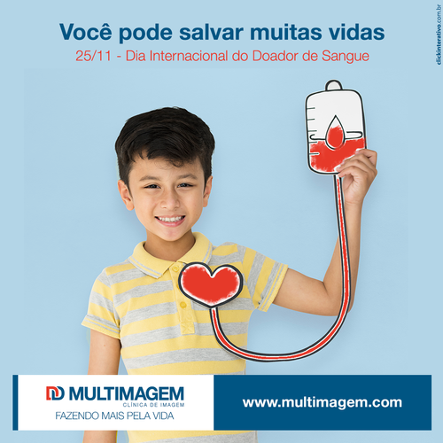 Tire um tempinho para doar sangue e ajude a salvar muita gente. <3   #Multimagem #MultimagemClínicadeImagem #ClínicadeImagem #DiaInternacionalDoDoadorDeSangue #Doação #Bahia   www.multimagem.com