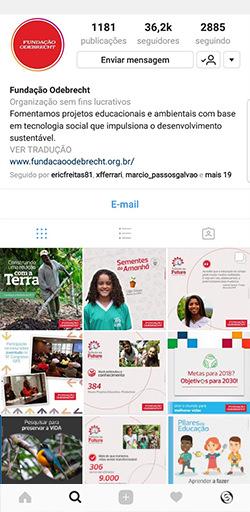 Instagram da Fundação Odebrecht - Click Interativo