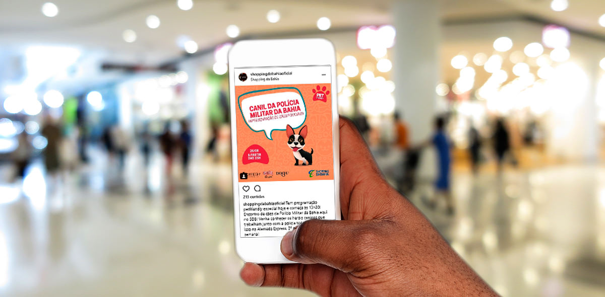 Mídias Sociais do Shopping da Bahia - Click Interativo