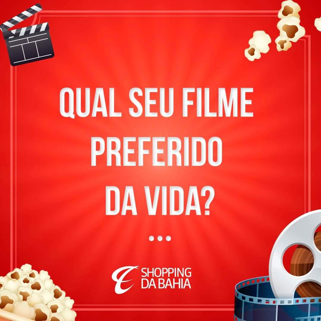 Queremos ver esses comentários bombando de dicas para as sessões de mais tarde! ;)   Falando em filme, amanhã tem estreia aqui no SDB! Ninguém pode perder! ;)   #ShoppingDaBahia #SDB #FilmePreferido #Filme #Salvador #Bahia   www.shoppingdabahia.com.br