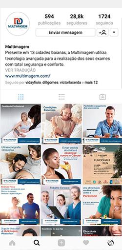 Instagram da Multimagem - Click Interativo