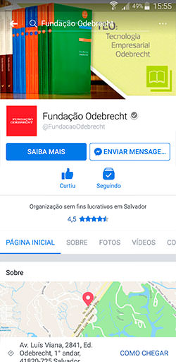 Facebook da Fundação Odebrecht - Click Interativo