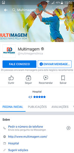 Facebook da Multimagem - Click Interativo