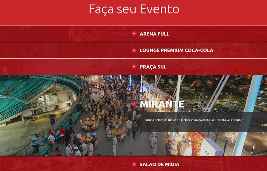 Site Responsivo Arena Fonte Nova 2018 - Click Interativo