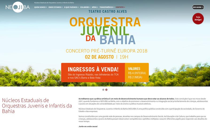 NEOJIBA - Site Responsivo 2018 - Click Interativo