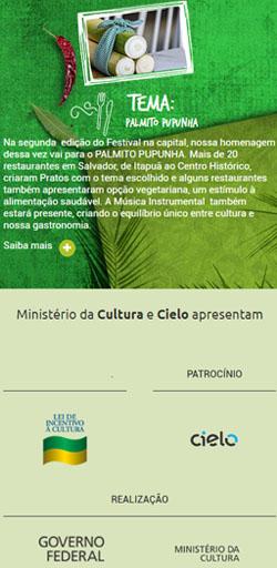 Tempero Bahia 2018 - Site Responsivo - Click Interativo