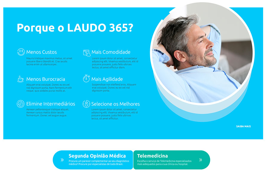 Laudo 365 -  Layout do Portal Laudo 365 - Click Interativo