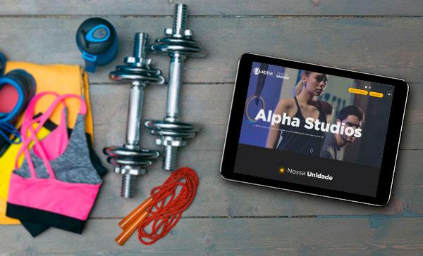Site Responsivo Alpha Studios 2018